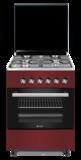 Wiggo WO-E603R(RX) Serie 3 - Gasfornuis - Rood Rvs_