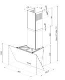 Wiggo-WE-E533G(C)-Schuine-Afzuigkap-50-cm-Creme-Triple_Glas_spec