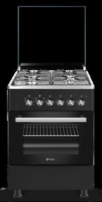 Wiggo WO-E603R(BX) Serie 3 - Gasfornuis - Zwart Rvs