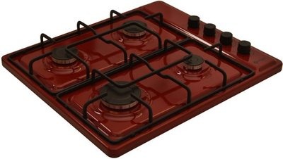 Wiggo WK-GV804R - Vrijstaande gaskookplaat - Rood