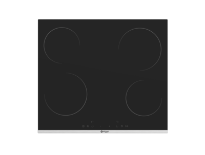 Wiggo WH-E624G(B) - Inbouw inductie kookplaat - 2 fase - 60cm - Zwart