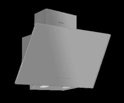 Wiggo WE-E513G(G) - Schuine Afzuigkap - 50cm - Grijs Glas