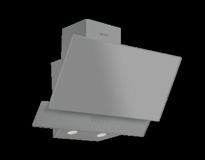 Wiggo WE-E523G(G) - Schuine Afzuigkap - 50cm - Grijs Dubbel Glas