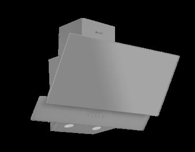Wiggo WE-E623G(G) - Schuine Afzuigkap - 60cm - Grijs Dubbel Glas